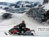 illegal snowmobiler on Klickitat Glacier